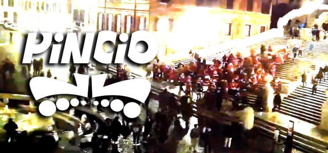 Pattinatori del Pincio in Piazza di Spagna e scalinata di Trinità dei Monti Roma