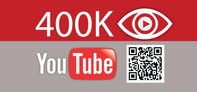 Quattrocentomila visualizzazioni del canale YouTube e qualche statistica
