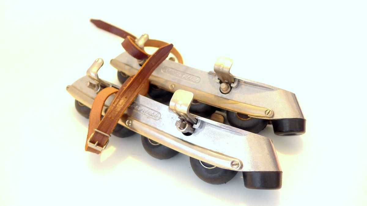 Orig. EUBA Silberpfeil 1962 Inline Roller Skate Made in Germany