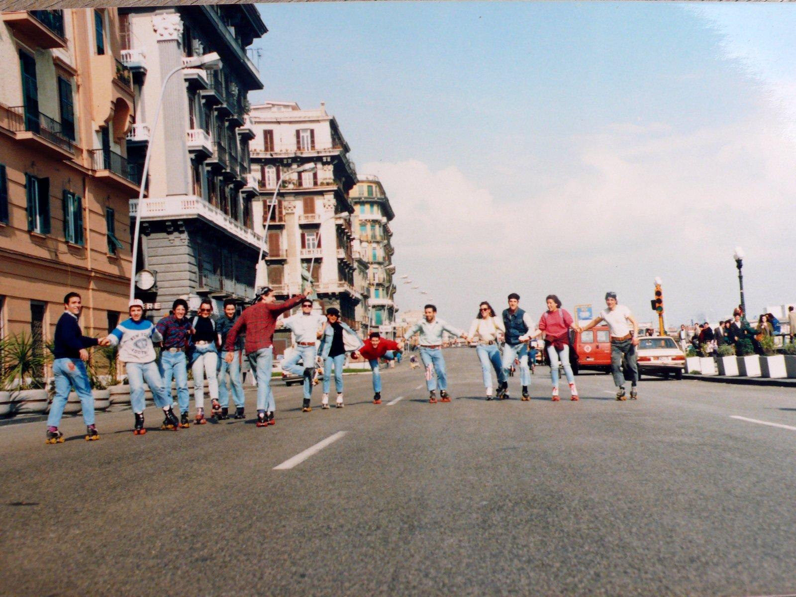 I pattinatori della Villa Comunale di Napoli 1992 Le Foto