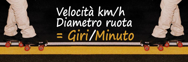 calcolo-giri ruota minuto rollerskate