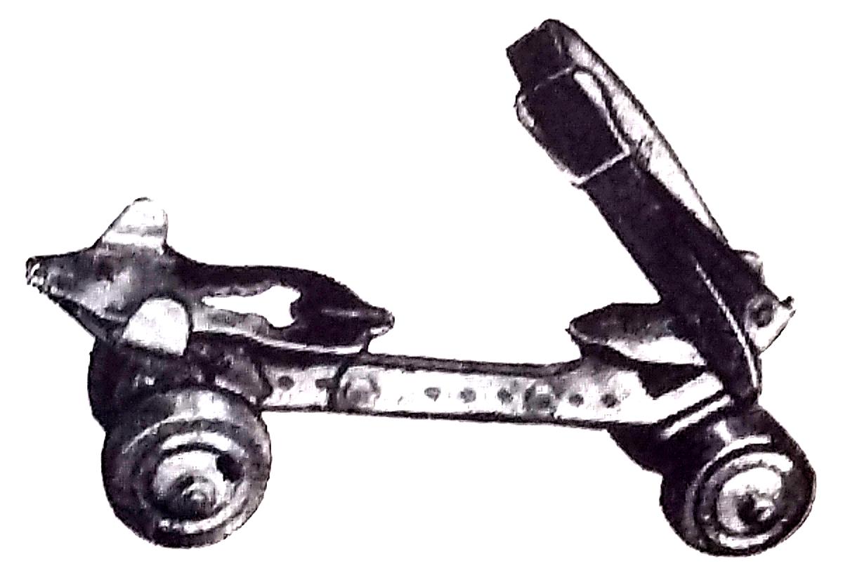 Pattini Graziella con morsetti e cinghie 1950
