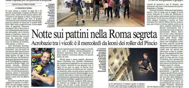 Notte sui pattini nella Roma segreta