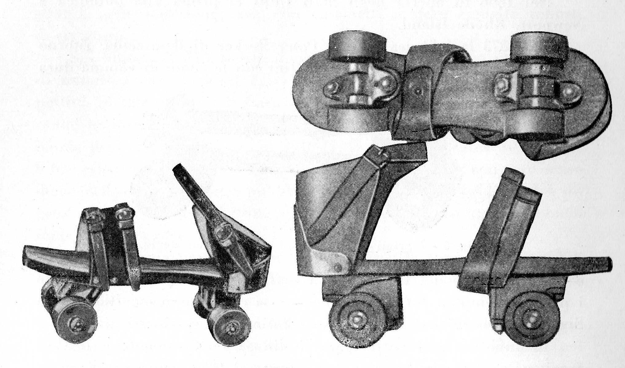 Pattini zoccolo legno inallungabili della ditta Samuel Wihslow 1856