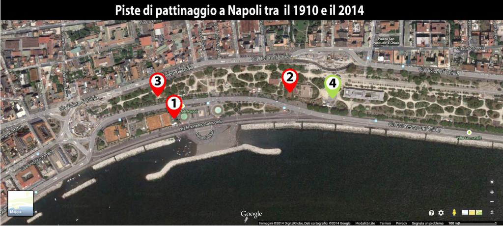 Piste di pattinaggio a Napoli tra il 1910 e il 2018