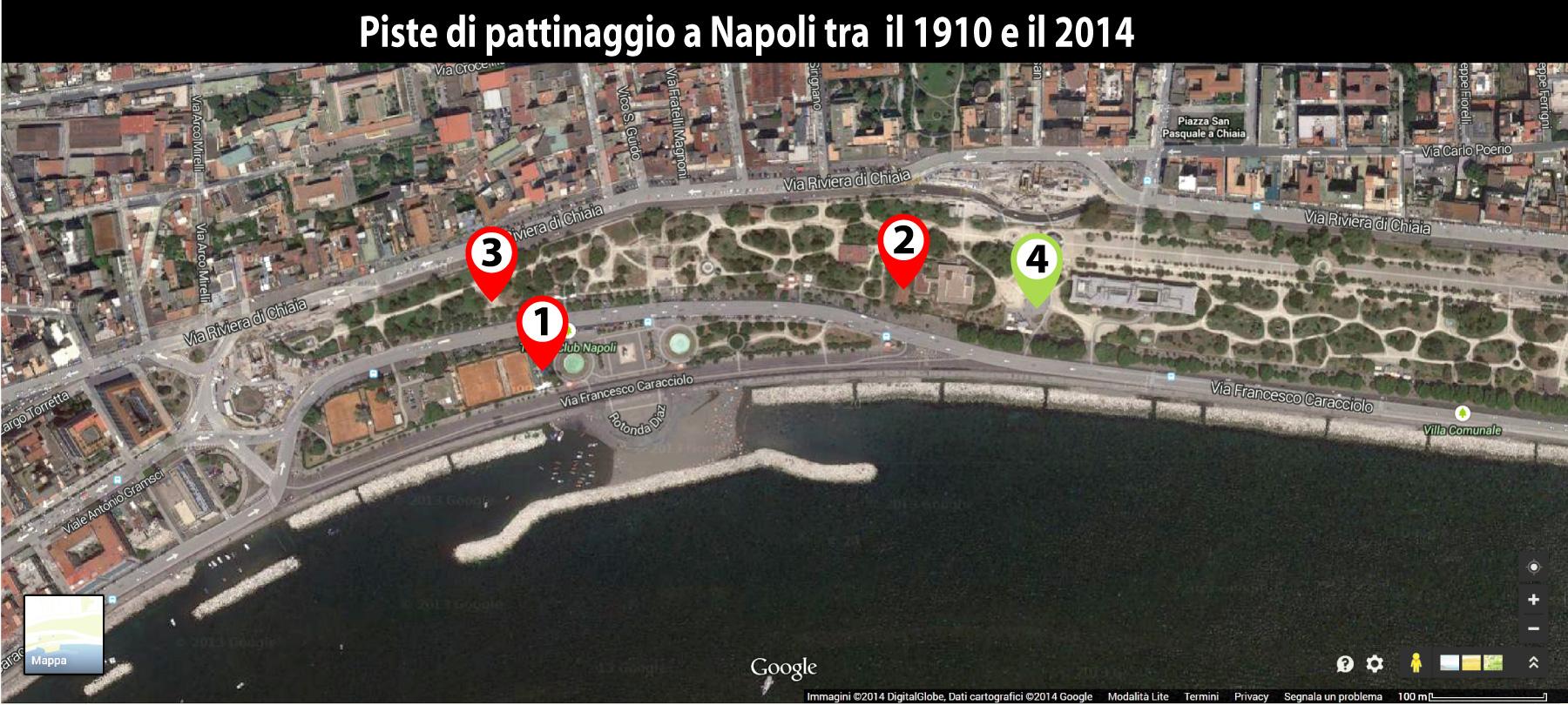 Piste di pattinaggio a Napoli tra il 1910 e il 2014