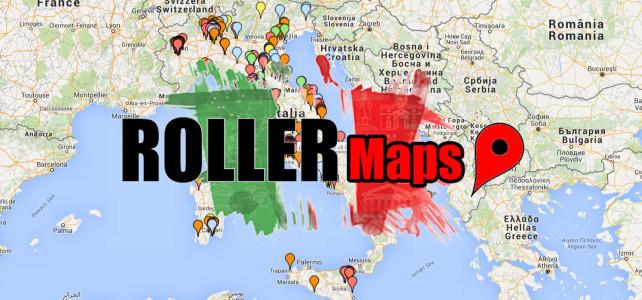 RollerMaps Piste di Pattinaggio e Skate Park in Italia