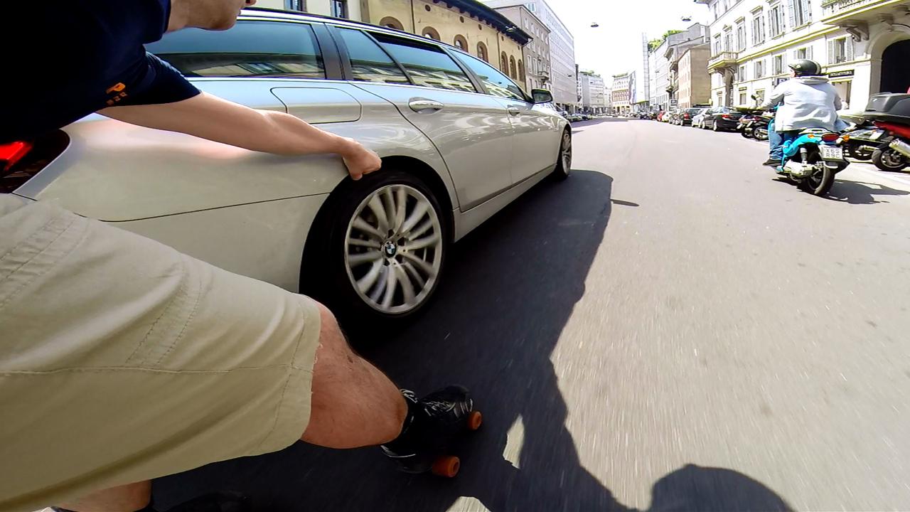 rollerquad vs BMW - Corso Venezia Milano