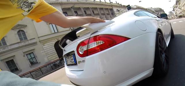 RollerQUAD VS Jaguar XKR R5 – Milano Italy