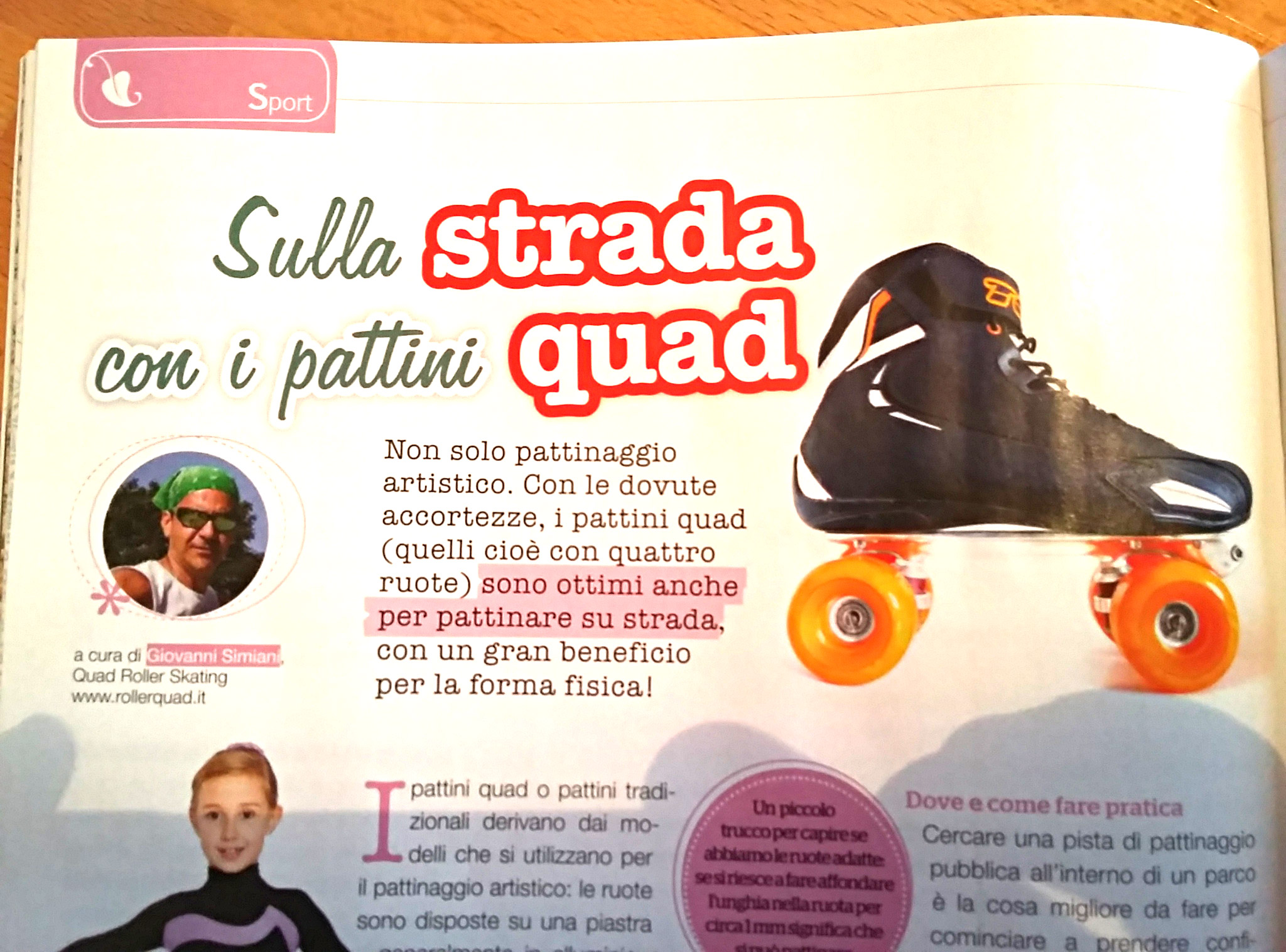 Pattinare in strada con i pattini quad
